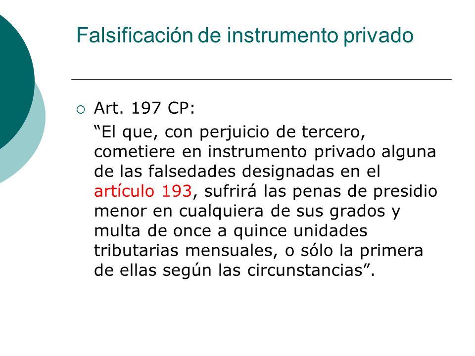 Falsificación de instrumento privado