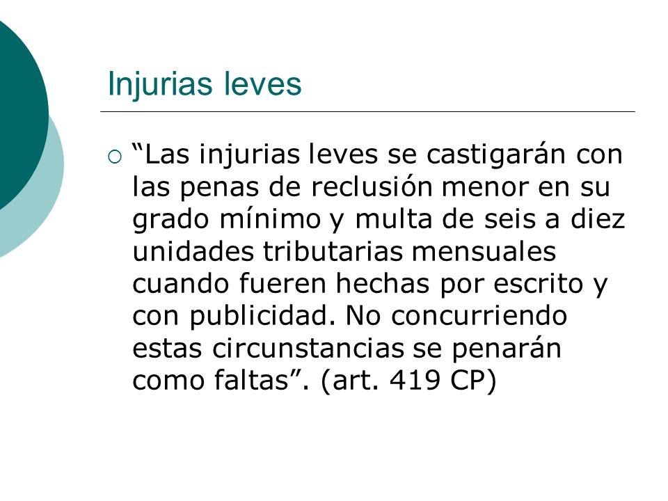 Injurias leves