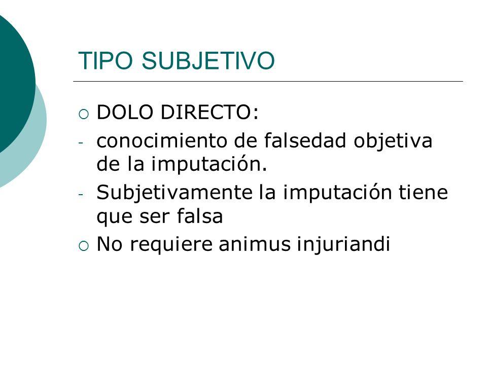 TIPO SUBJETIVO DOLO DIRECTO: