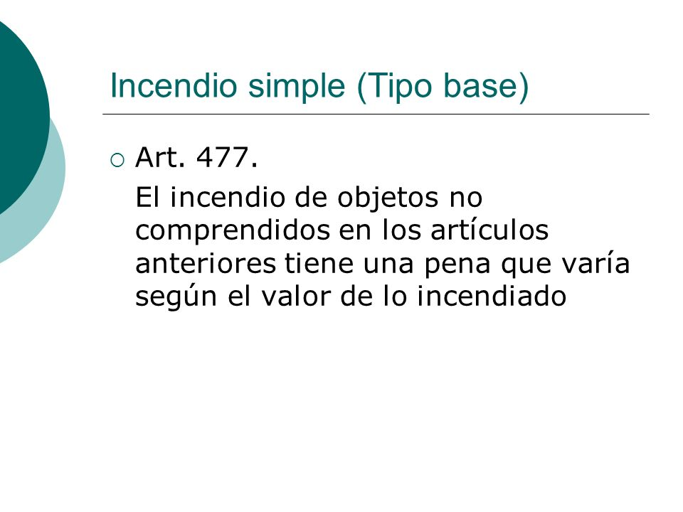 Incendio simple (Tipo base)