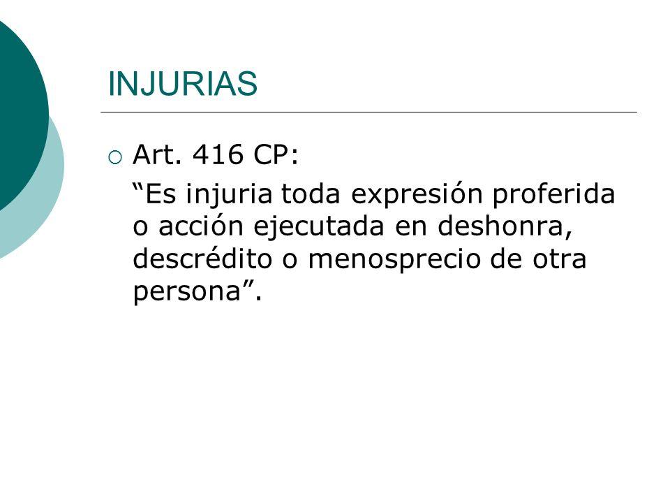 INJURIAS Art.