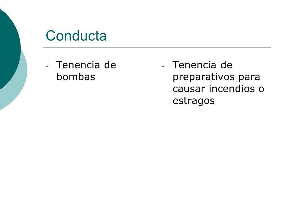 Conducta Tenencia de bombas