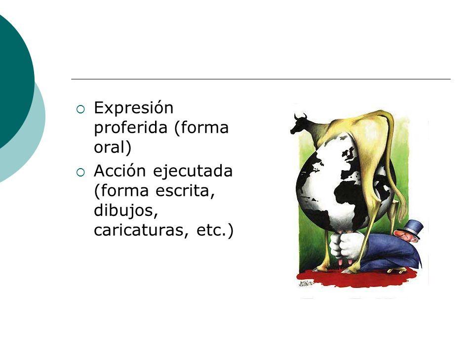 Expresión proferida (forma oral)