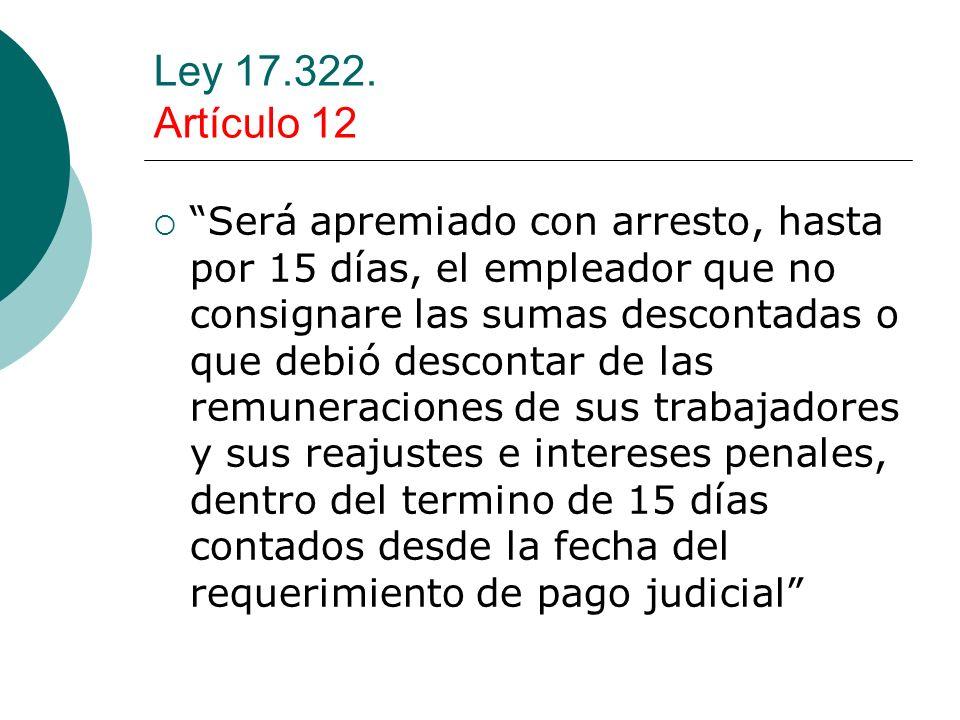 Ley 17.322. Artículo 12