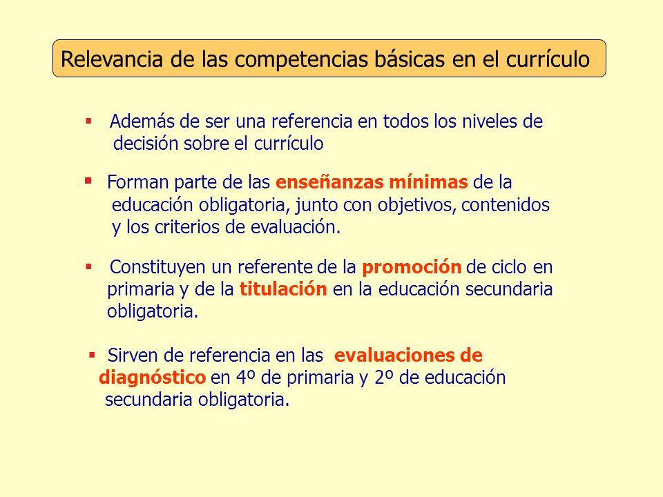 Relevancia de las competencias básicas en el currículo