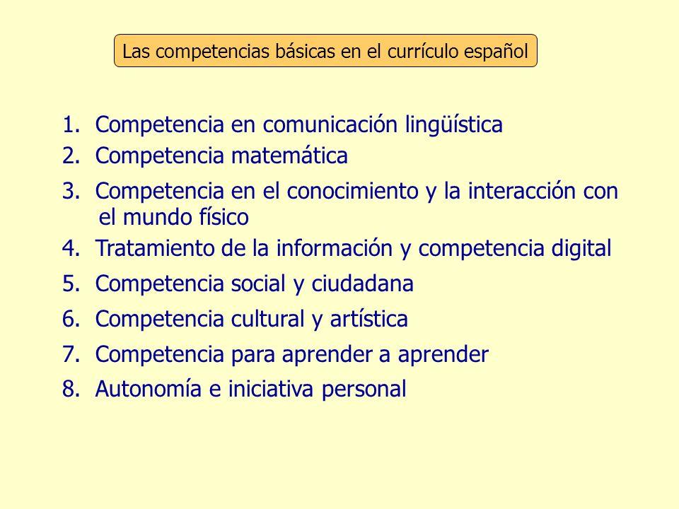 Las competencias básicas en el currículo español