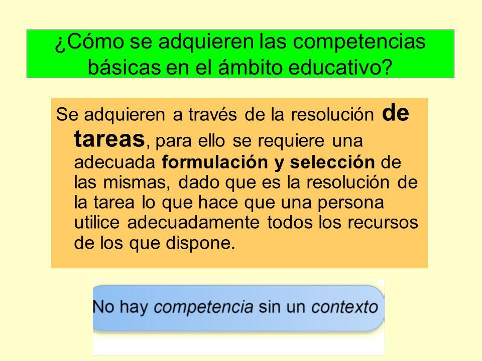 ¿Cómo se adquieren las competencias básicas en el ámbito educativo