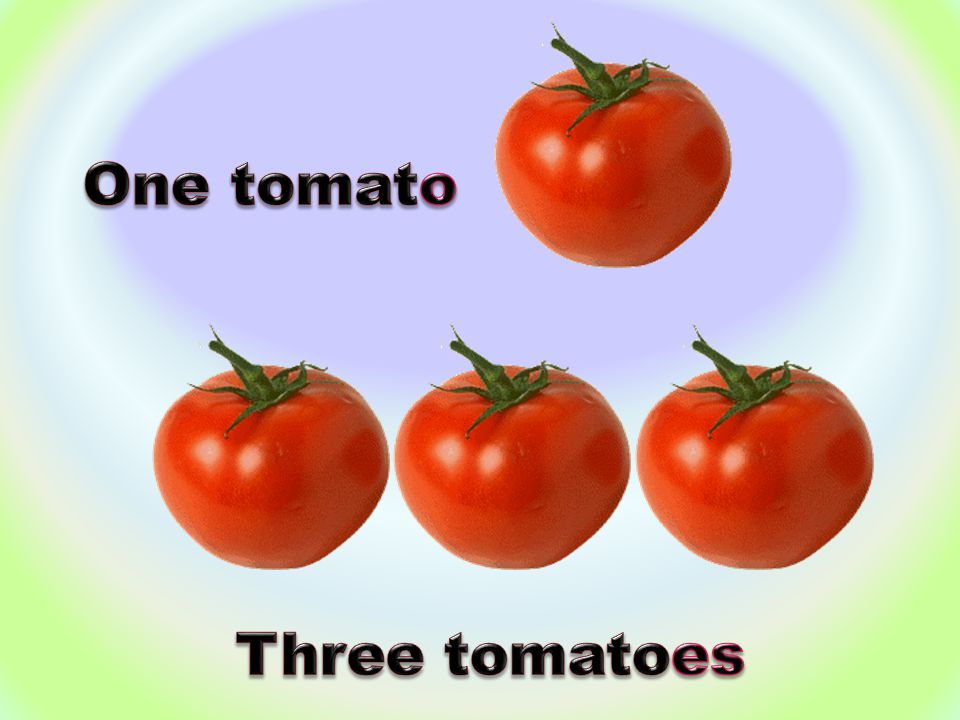 One tomato Three tomatoes