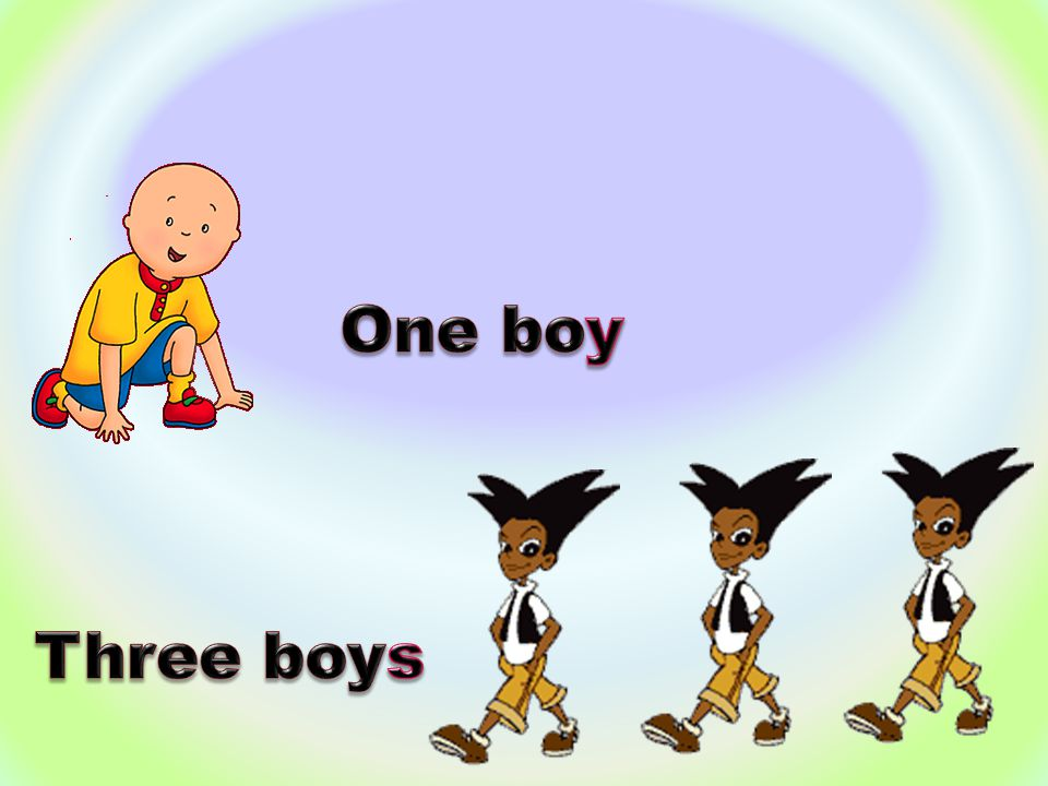 One boy Three boys