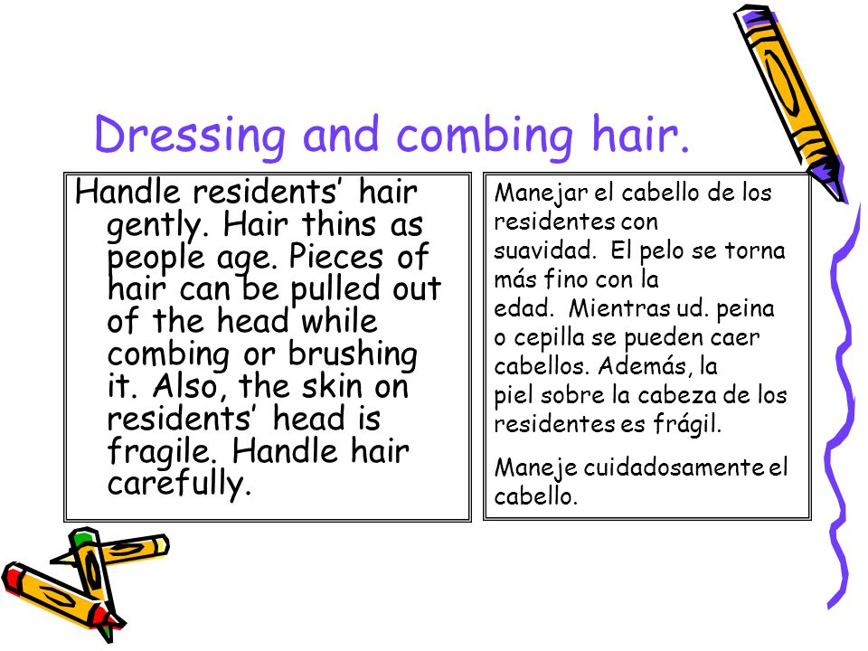 Dressing And Combing Hair Instructor Dr Nelson Jim 233 Nez