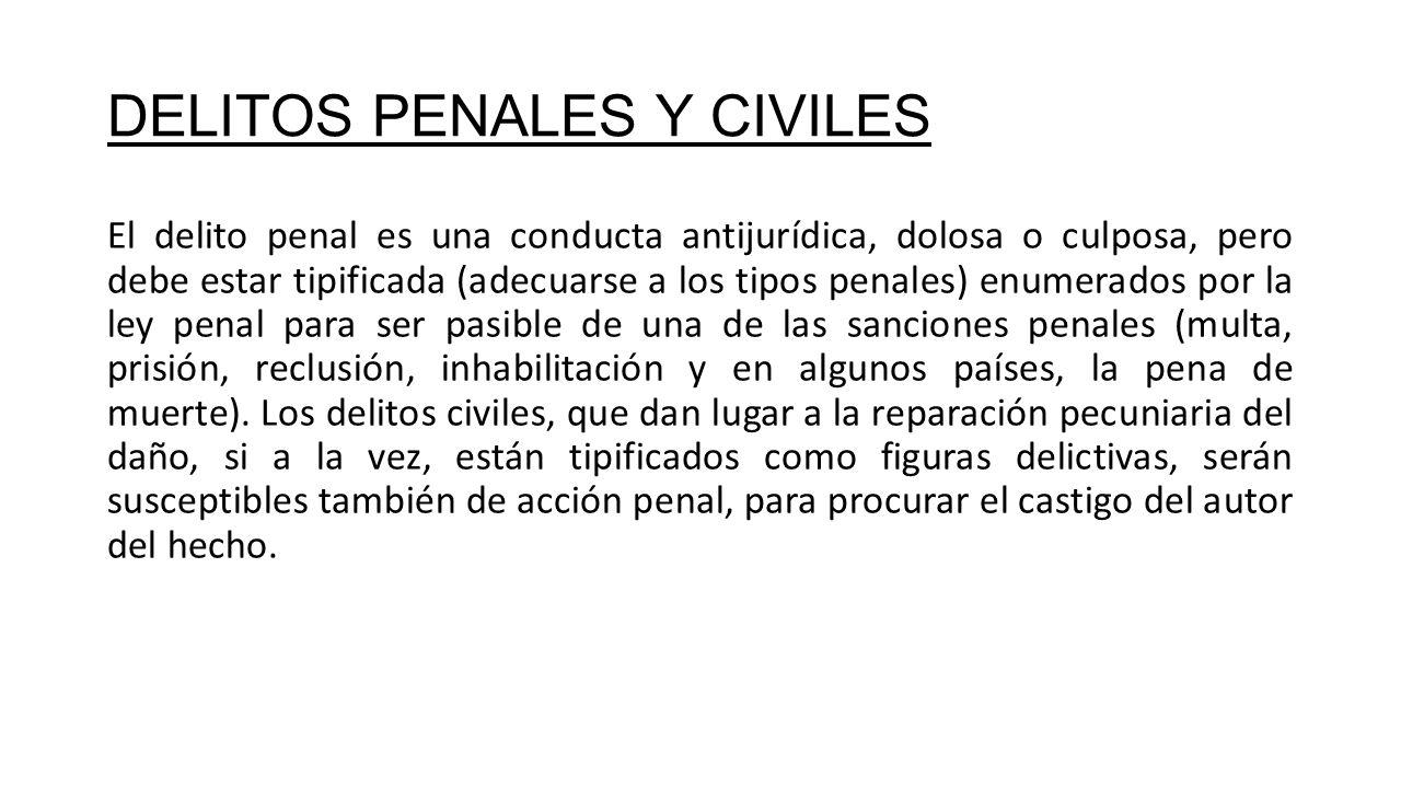 DELITOS PENALES Y CIVILES
