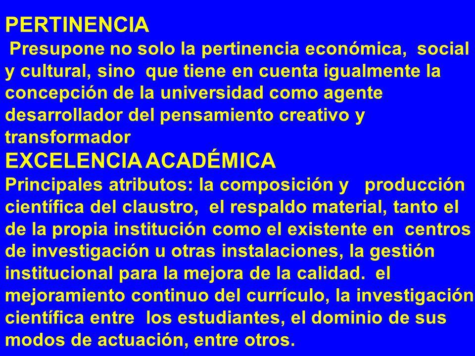 Pertinencia Excelencia Académica