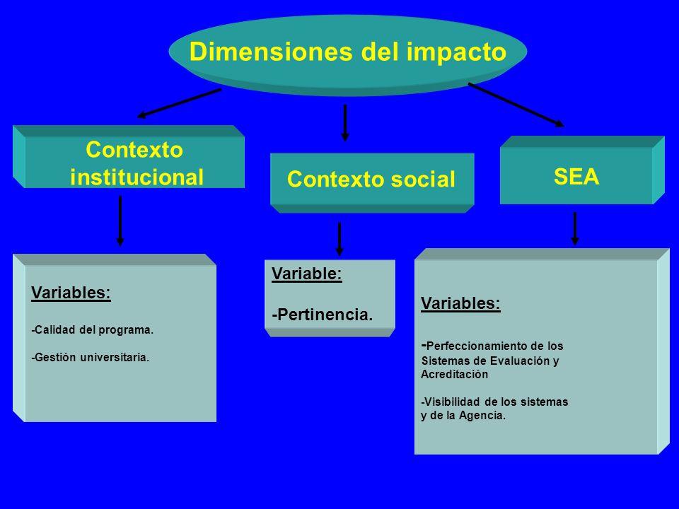 Dimensiones del impacto