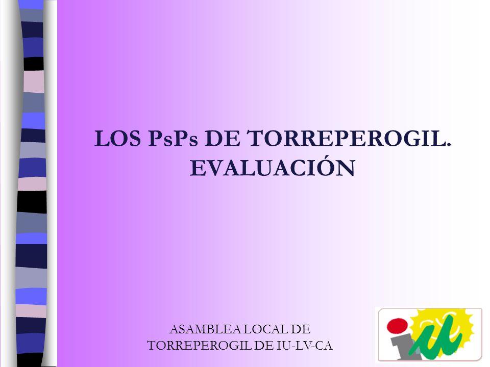 LOS PsPs DE TORREPEROGIL. EVALUACIÓN