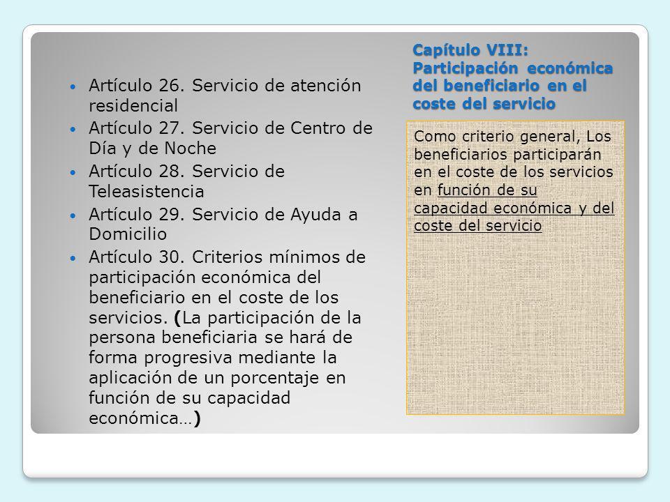 Artículo 26. Servicio de atención residencial