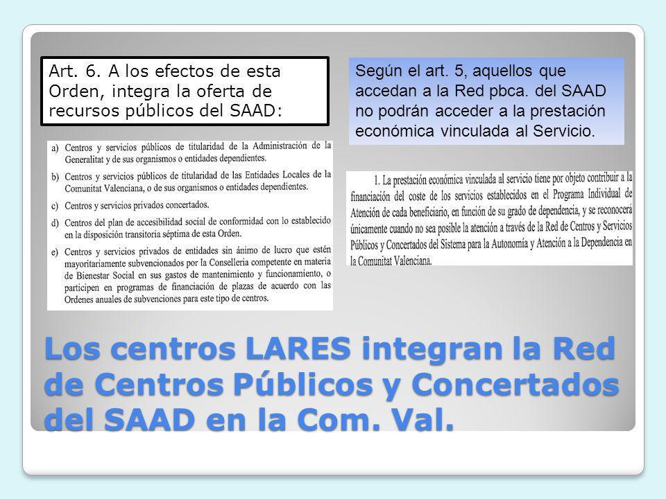 Art. 6. A los efectos de esta Orden, integra la oferta de recursos públicos del SAAD: