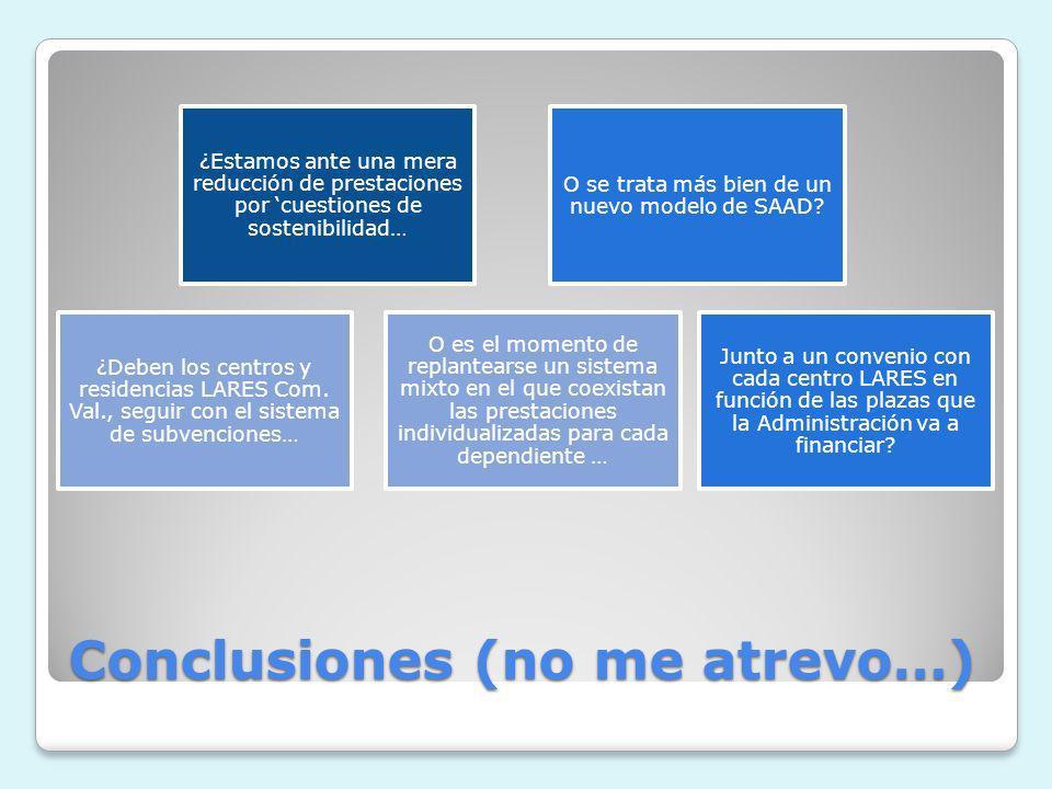 Conclusiones (no me atrevo…)