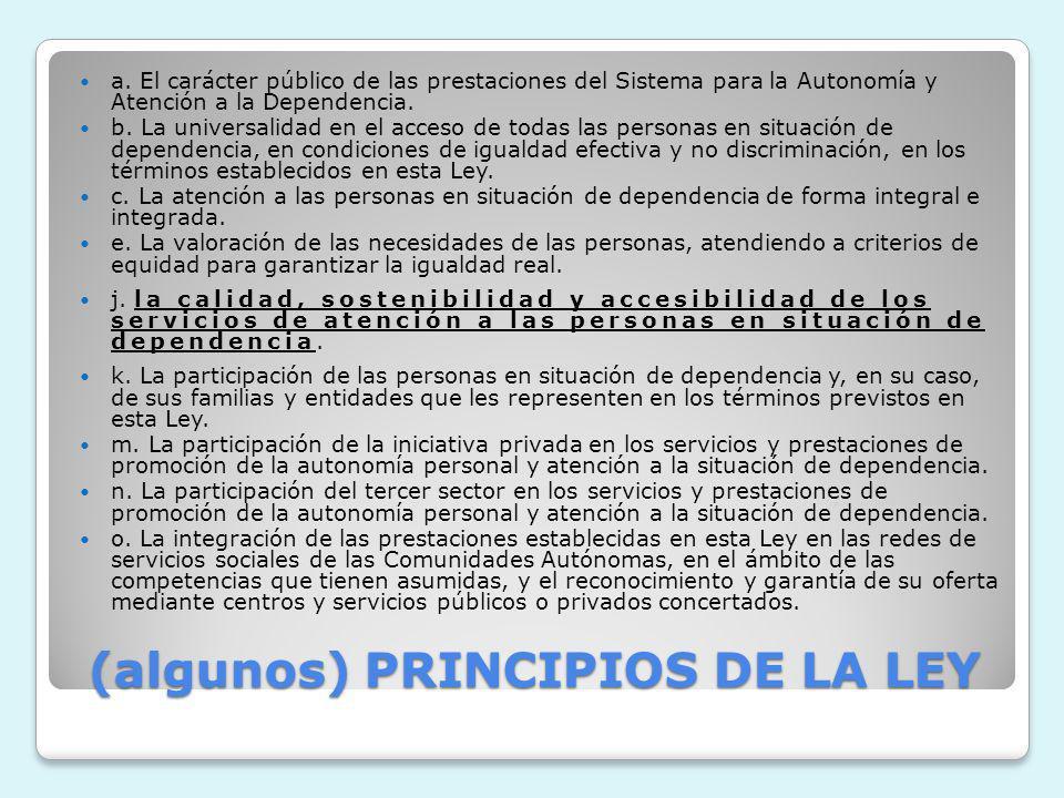 (algunos) PRINCIPIOS DE LA LEY