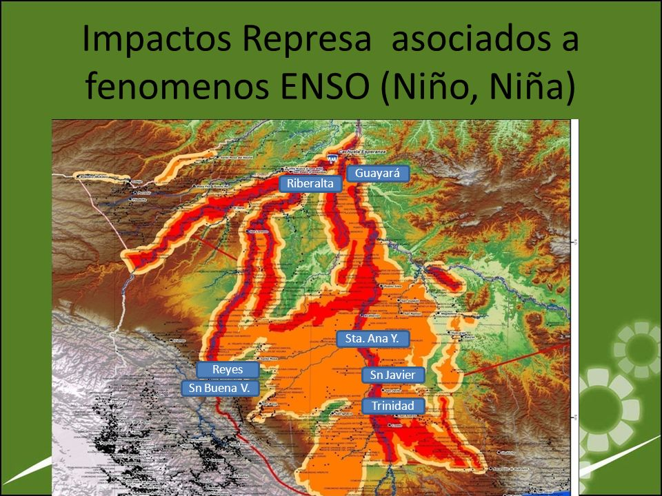 Impactos Represa asociados a fenomenos ENSO (Niño, Niña)