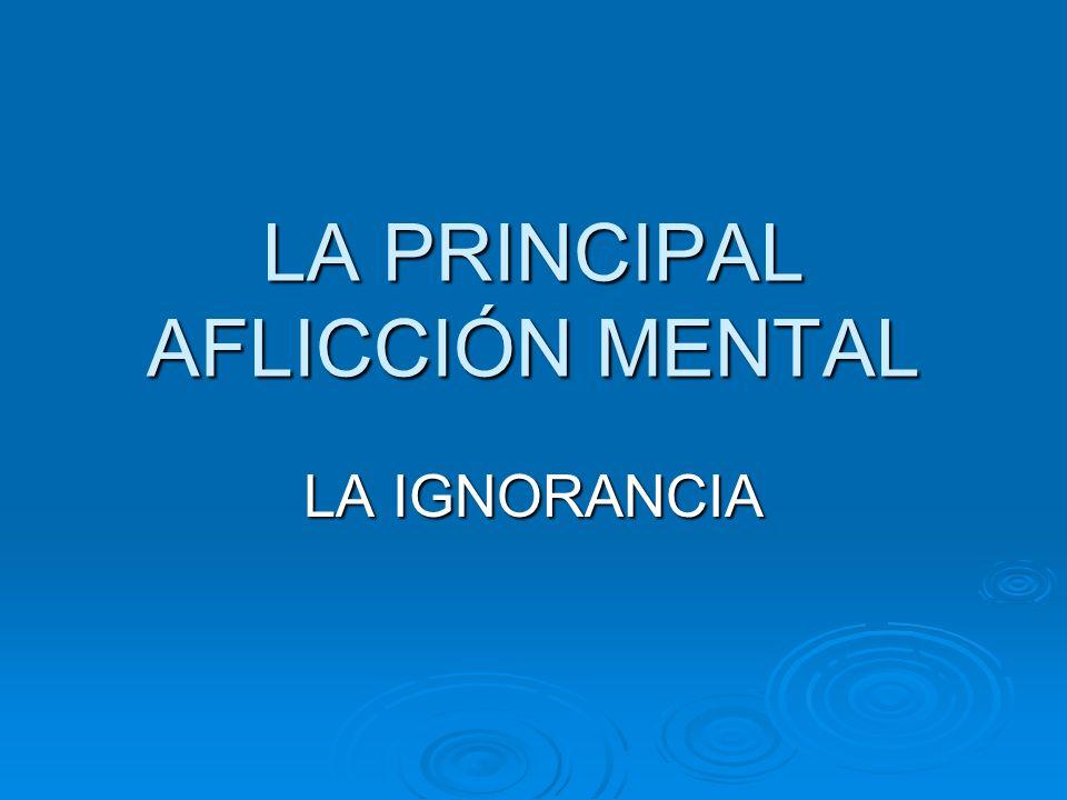 LA PRINCIPAL AFLICCIÓN MENTAL