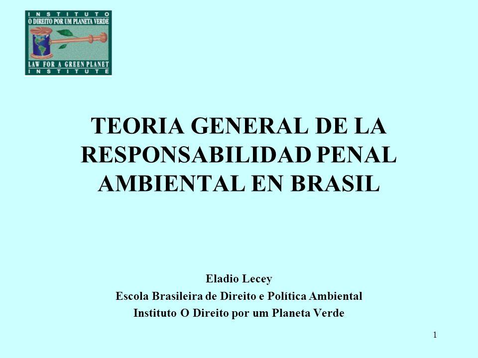 TEORIA GENERAL DE LA RESPONSABILIDAD PENAL AMBIENTAL EN BRASIL