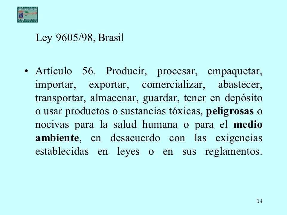 Ley 9605/98, Brasil
