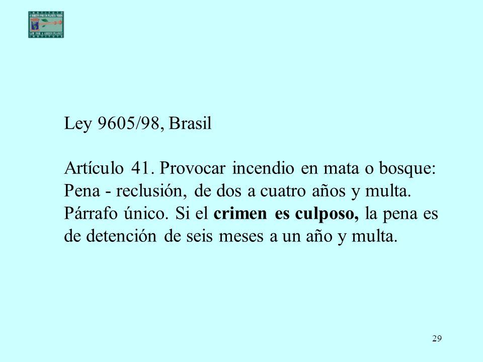 Ley 9605/98, Brasil Artículo 41.
