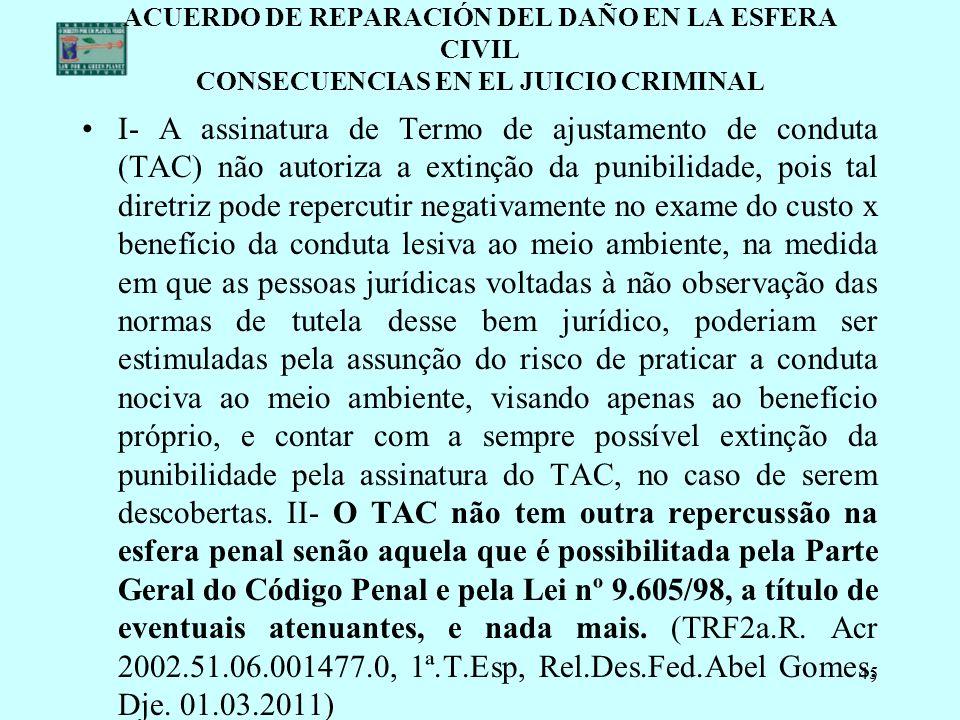 ACUERDO DE REPARACIÓN DEL DAÑO EN LA ESFERA CIVIL CONSECUENCIAS EN EL JUICIO CRIMINAL