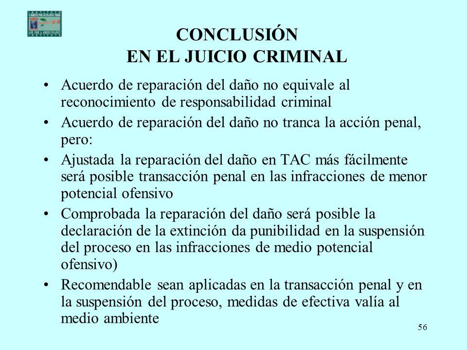 CONCLUSIÓN EN EL JUICIO CRIMINAL