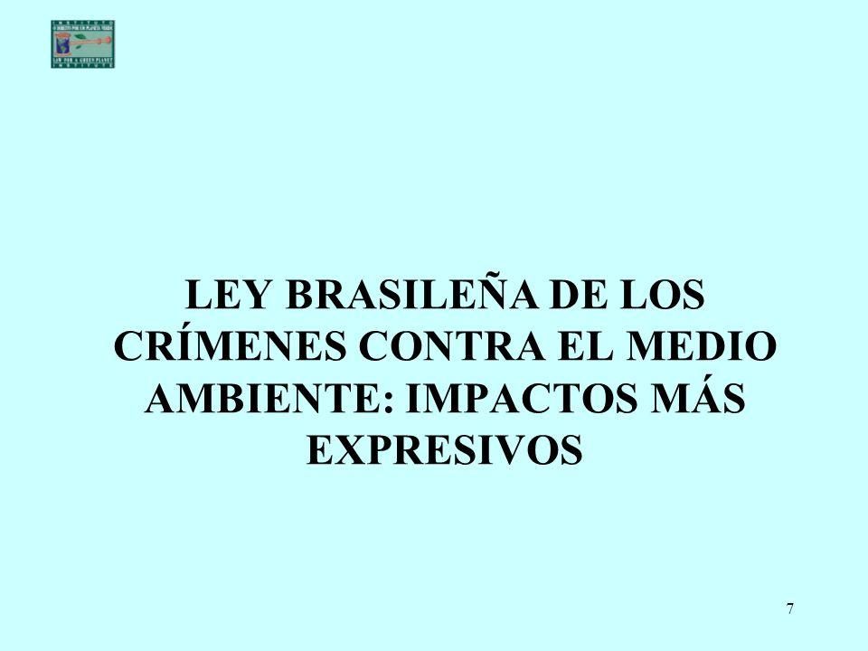LEY BRASILEÑA DE LOS CRÍMENES CONTRA EL MEDIO AMBIENTE: IMPACTOS MÁS EXPRESIVOS
