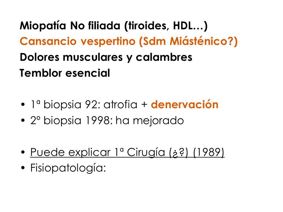 Miopatía No filiada (tiroides, HDL…)