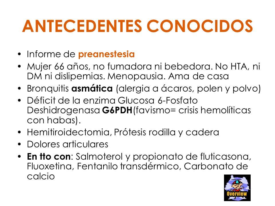 ANTECEDENTES CONOCIDOS