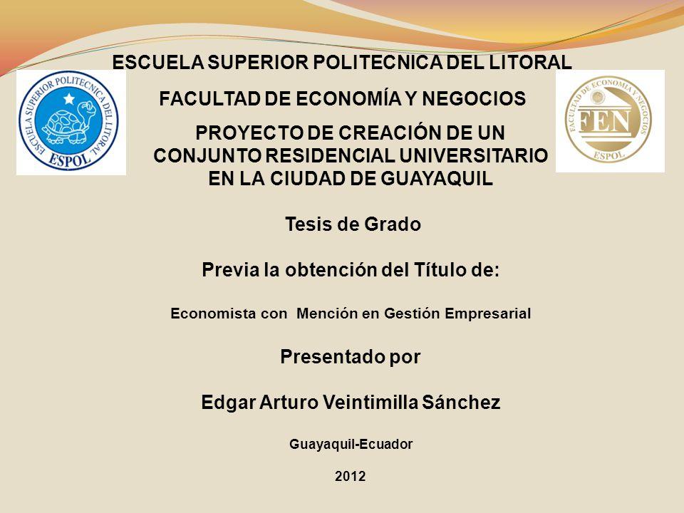 PROYECTO DE CREACIÓN DE UN CONJUNTO RESIDENCIAL UNIVERSITARIO