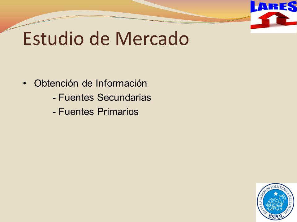 Estudio de Mercado LARES Obtención de Información
