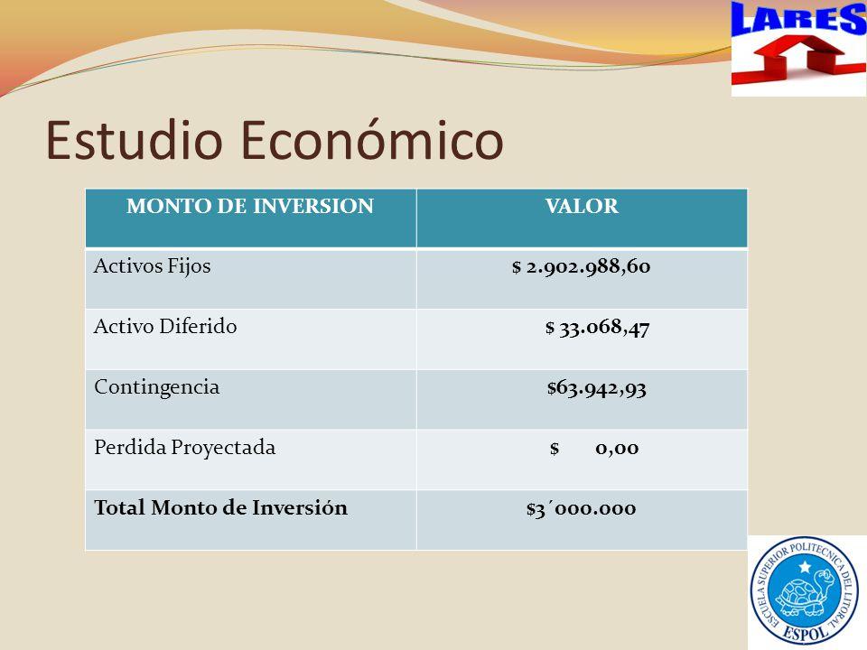 Estudio Económico LARES MONTO DE INVERSION VALOR Activos Fijos