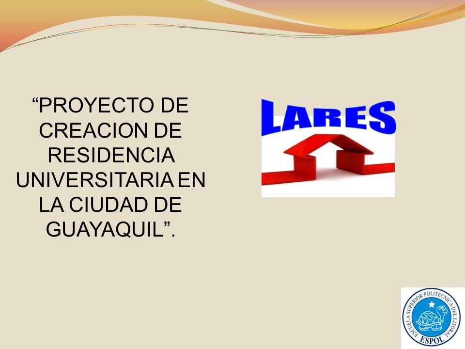 PROYECTO DE CREACION DE RESIDENCIA UNIVERSITARIA EN LA CIUDAD DE GUAYAQUIL .
