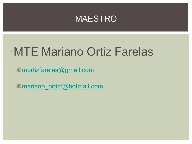 MTE Mariano Ortiz Farelas