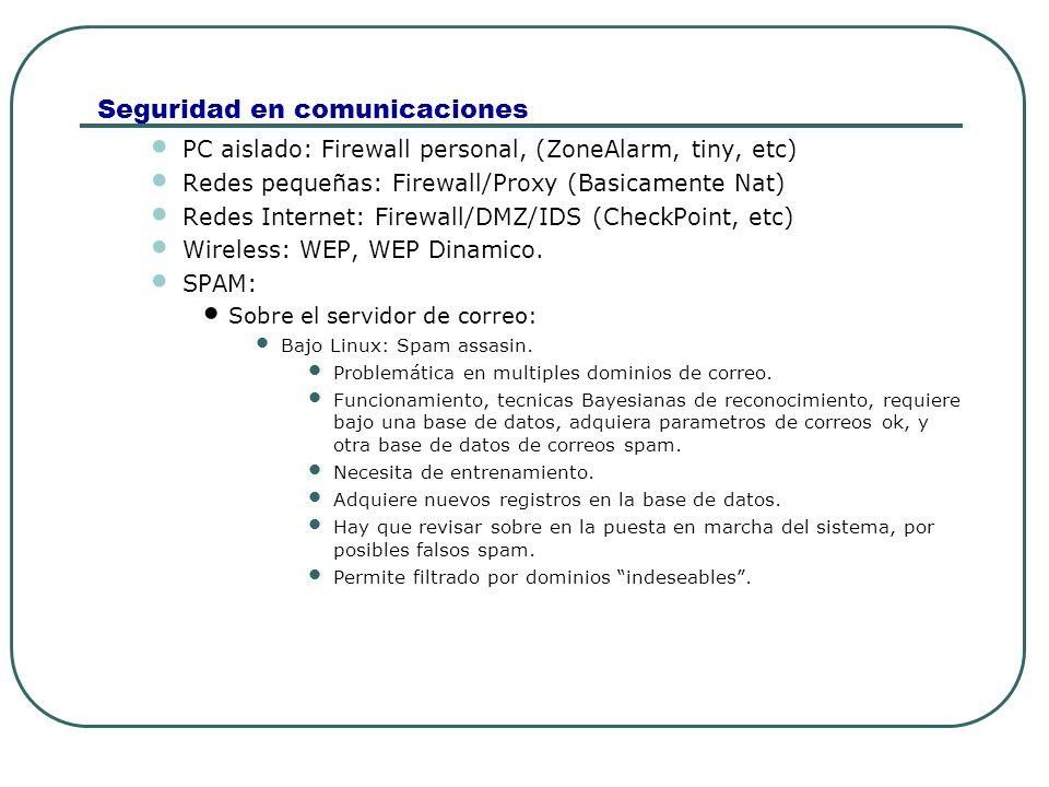 Seguridad en comunicaciones