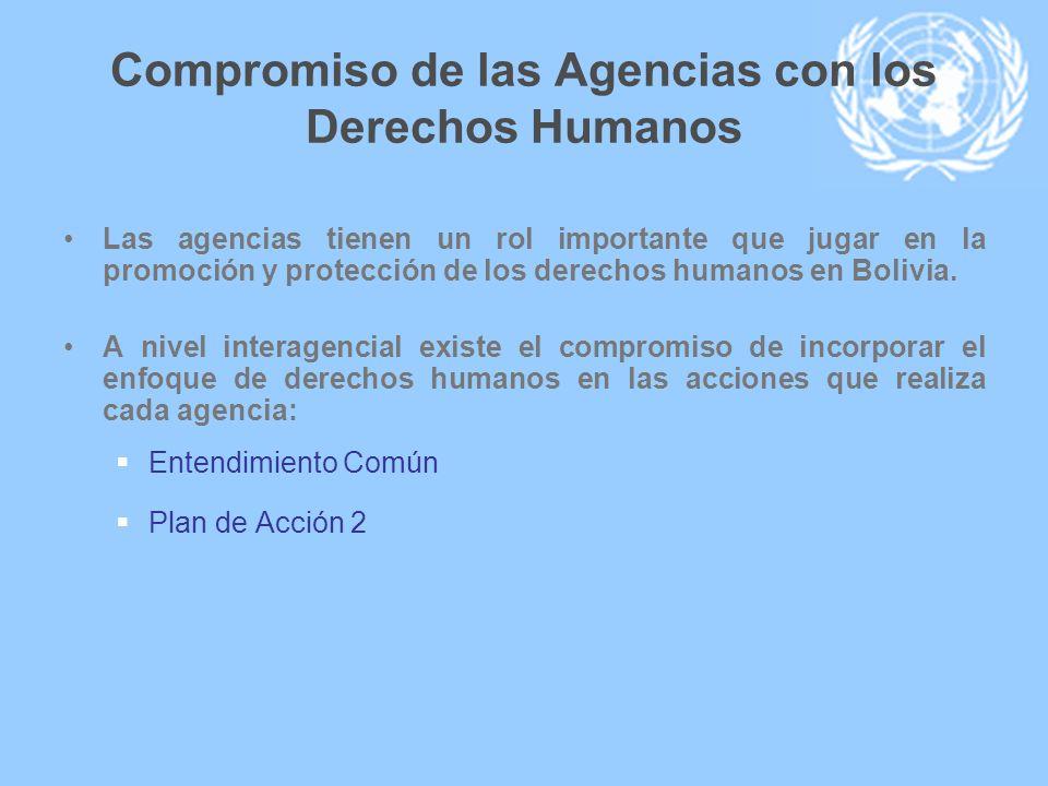 Compromiso de las Agencias con los Derechos Humanos