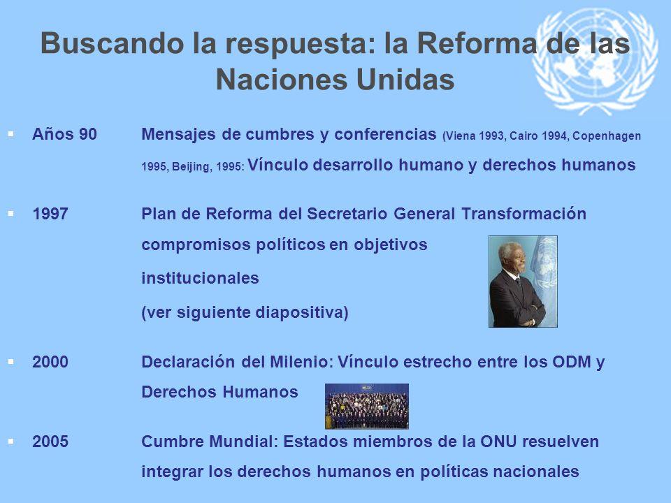 Buscando la respuesta: la Reforma de las Naciones Unidas