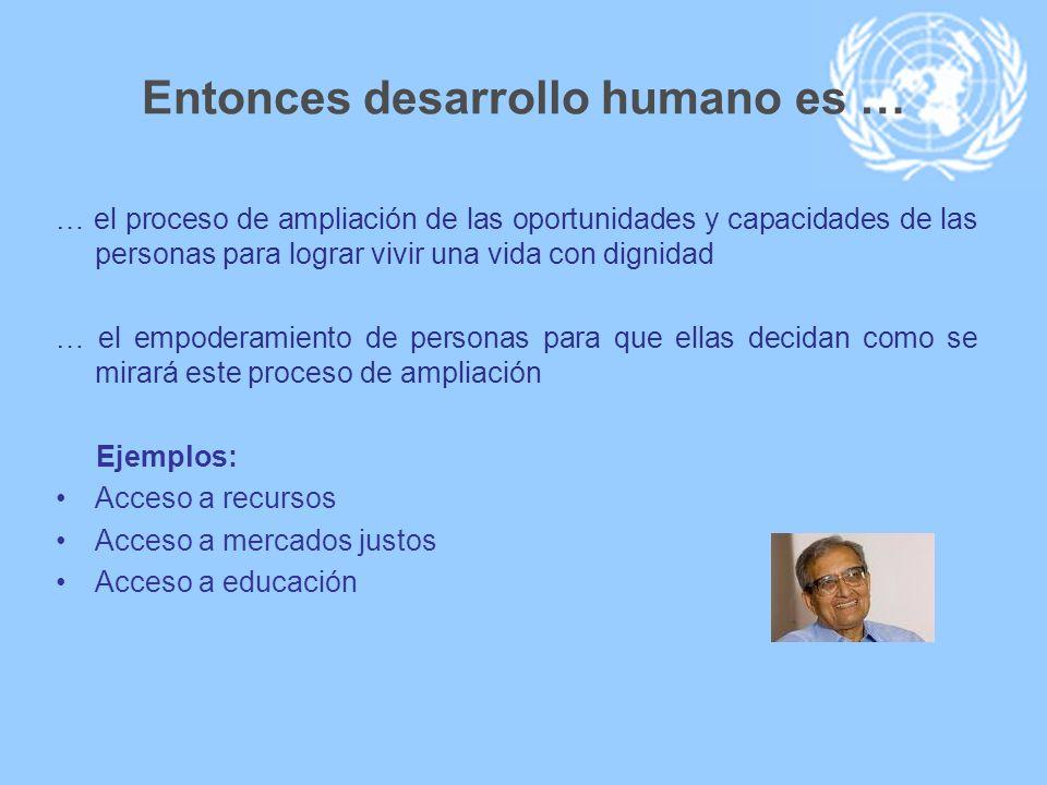 Entonces desarrollo humano es …