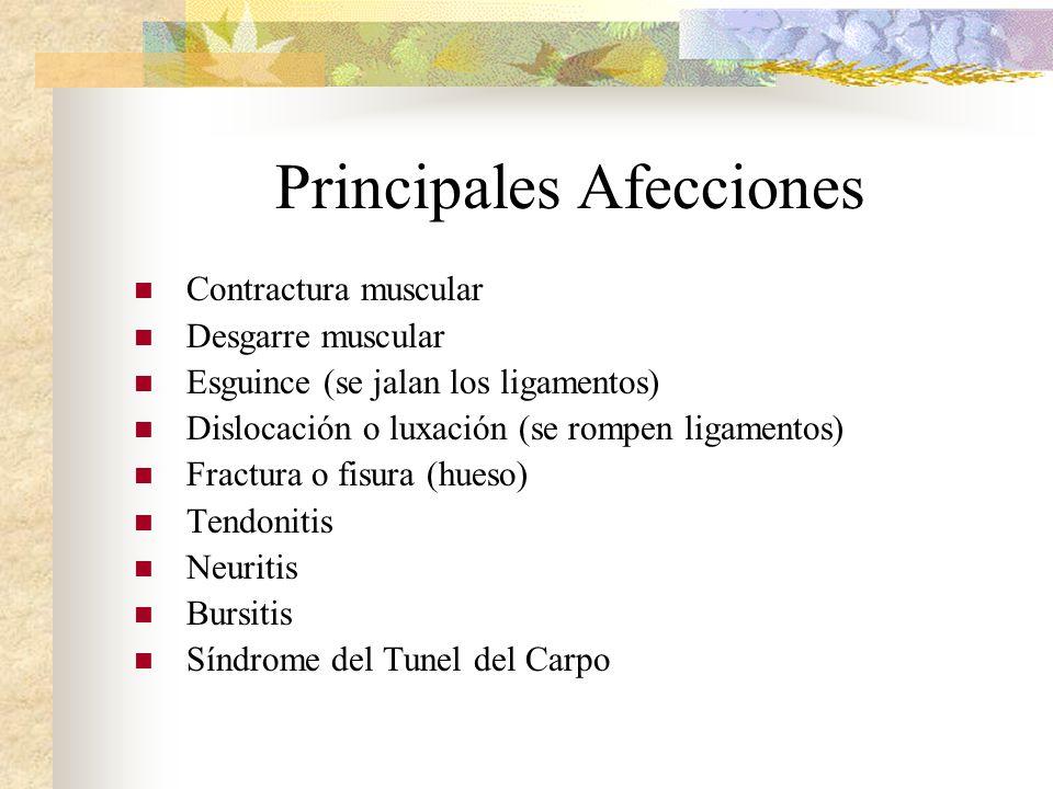 Principales Afecciones