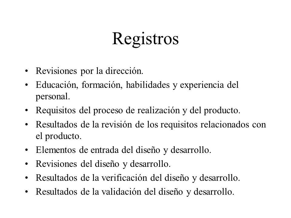 Registros Revisiones por la dirección.
