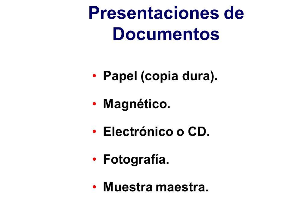 Presentaciones de Documentos
