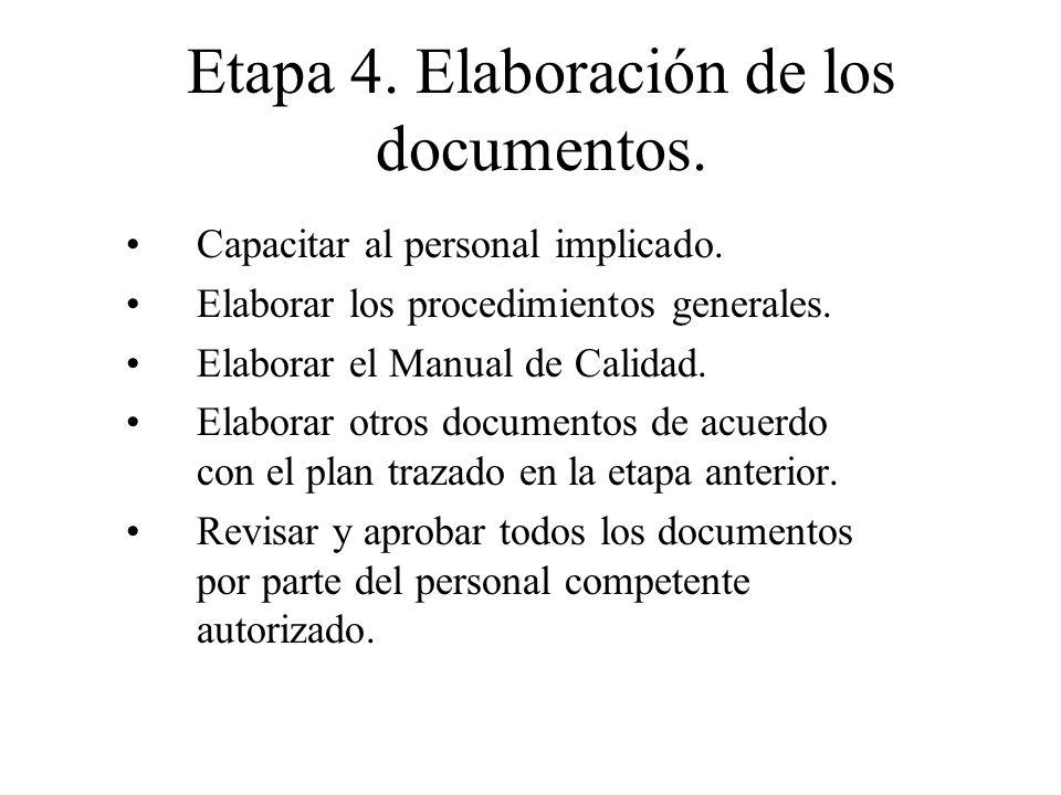 Etapa 4. Elaboración de los documentos.