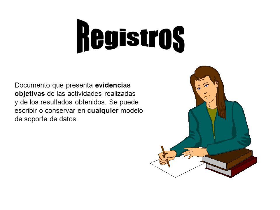 Registros Documento que presenta evidencias