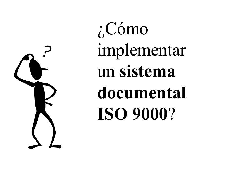 ¿Cómo implementar un sistema documental ISO 9000