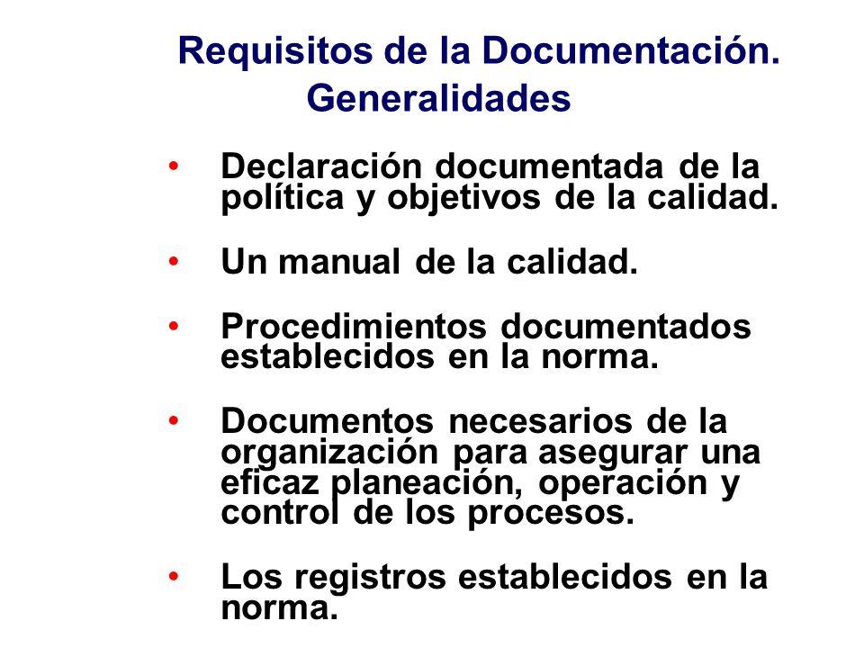 Requisitos de la Documentación. Generalidades