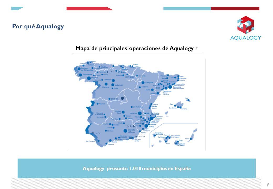 Aqualogy presente 1.018 municipios en España