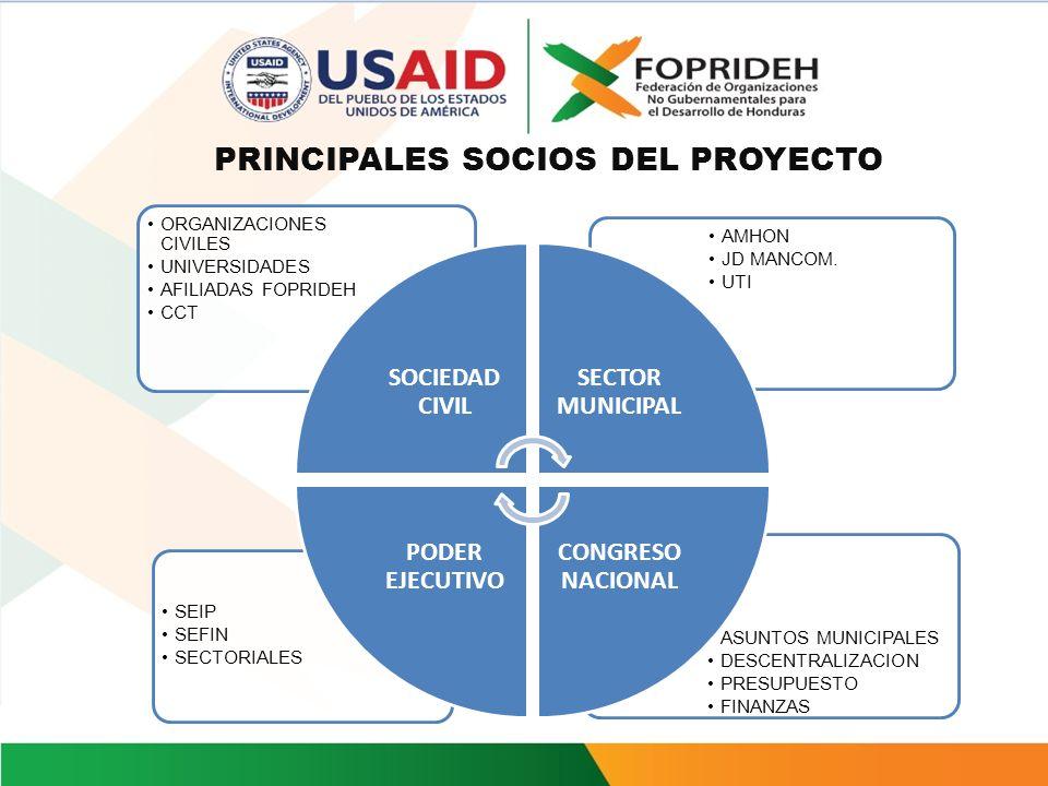 PRINCIPALES SOCIOS DEL PROYECTO